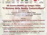 """locandina-invito XIII Incontro-Dibattito sul Castagno. """"Il Rinnovo della Nostra Castanicoltura"""""""